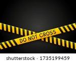 signal tape industrial border...   Shutterstock .eps vector #1735199459