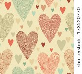 vector seamless pattern with... | Shutterstock .eps vector #173520770
