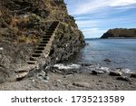 Coastal Cliffs And Stairs In...