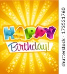 colorful birthday greeting card | Shutterstock .eps vector #173521760