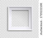 blank white picture frame ...   Shutterstock .eps vector #1735222100