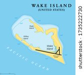 wake island  political map.... | Shutterstock .eps vector #1735222730