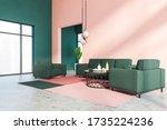 corner of stylish living room... | Shutterstock . vector #1735224236