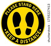 social distancing concept for... | Shutterstock .eps vector #1735227413