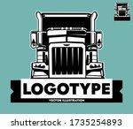 american semi trailer truck...   Shutterstock .eps vector #1735254893