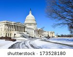 Stock photo us capitol building in snow washington dc usa 173528180