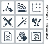 vector graphic design icons set | Shutterstock .eps vector #173529659