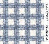 seamless french blue woven... | Shutterstock .eps vector #1735317446