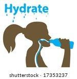hydrating girl sport | Shutterstock .eps vector #17353237