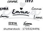 Lettering Of Name Emma....