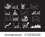 hand doodle business graph... | Shutterstock .eps vector #173533220