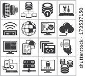 network icons set  information... | Shutterstock .eps vector #173537150