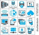 network icons set  information... | Shutterstock .eps vector #173537153