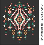 aztec ethnic print background | Shutterstock .eps vector #173537240