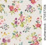 seamless spring flower vector... | Shutterstock .eps vector #173537336