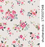 tiny vintage cute flower vector ... | Shutterstock .eps vector #173537348