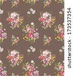 seamless floras vector pattern... | Shutterstock .eps vector #173537354