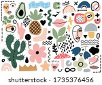 abstract shapes vector... | Shutterstock .eps vector #1735376456