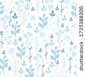 vector seamless pattern.... | Shutterstock .eps vector #1735388300