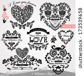 set of design elements for... | Shutterstock .eps vector #173539658