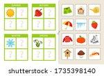 matching children educational... | Shutterstock .eps vector #1735398140