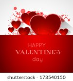 abstract valentine postcard... | Shutterstock .eps vector #173540150