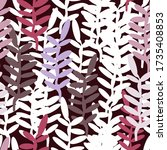 stylized twigs with leaves on a ... | Shutterstock .eps vector #1735408853