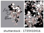collection of print and... | Shutterstock .eps vector #1735410416