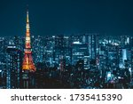 Tokyo City Skyline View And...