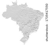 simple abstract map of brasil...   Shutterstock .eps vector #1735417550