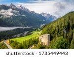 Silvretta Alps Surrounding The...