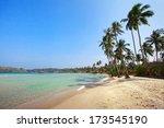 beautiful beach on koh kood... | Shutterstock . vector #173545190
