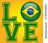 i love brazil  | Shutterstock .eps vector #173545403