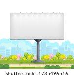billboard blank. city outdoor...   Shutterstock .eps vector #1735496516