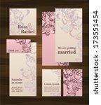 set of wedding cards | Shutterstock .eps vector #173551454
