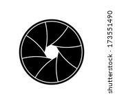 illustration of camera shutter  ... | Shutterstock . vector #173551490