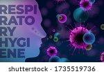 respiratory hygiene coronavirus ... | Shutterstock .eps vector #1735519736