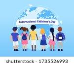 international children's day.... | Shutterstock .eps vector #1735526993