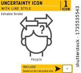 uncertainty premium vector icon ...