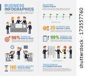 business infographics    Shutterstock .eps vector #173557760