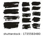 flat paint brush thin long  ... | Shutterstock .eps vector #1735583480