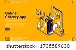 Online Grocery App Isometric...