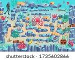marine maze game for children.... | Shutterstock .eps vector #1735602866