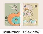 vector flyer template. abstract ... | Shutterstock .eps vector #1735615559
