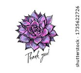 handdrawn colored greeting card ... | Shutterstock .eps vector #1735622726