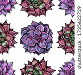 seamless pattern with colored... | Shutterstock .eps vector #1735622729