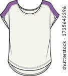 women's  t shirt. fashion flat...   Shutterstock .eps vector #1735643396