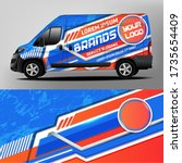 car sticker car design... | Shutterstock .eps vector #1735654409