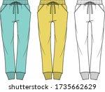 sweatpants fashion flat... | Shutterstock .eps vector #1735662629