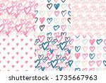 heart seamless pattern. set of... | Shutterstock .eps vector #1735667963
